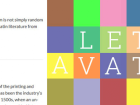 Wordpress字母评论头像插件Letter Avatars v3.10支持中英文用户名首字母