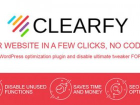 独家汉化WordPress 网站优化及调整插件Clearfy v1.85 商业版