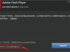 Adobe Flash Player v34.0.0.92 最新解除限制版及免升级版